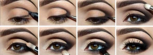 Фото макияжа для карих глаз брюнетки