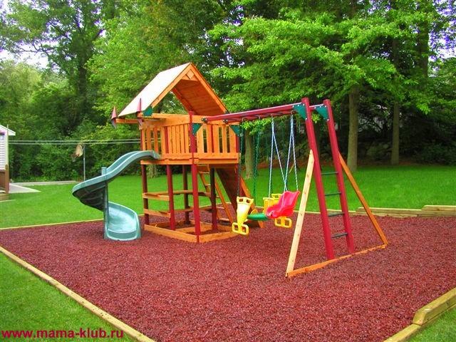 Как сделать детскую площадку на даче своими руками фото