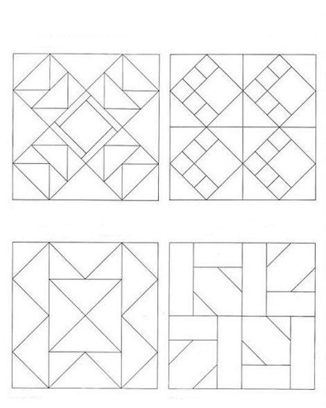 Лоскутное шитье блоки схемы из квадратов