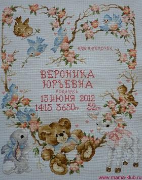 Метрика Монограмма Шрифт Кириллица Алфавит Схема вышивки 58