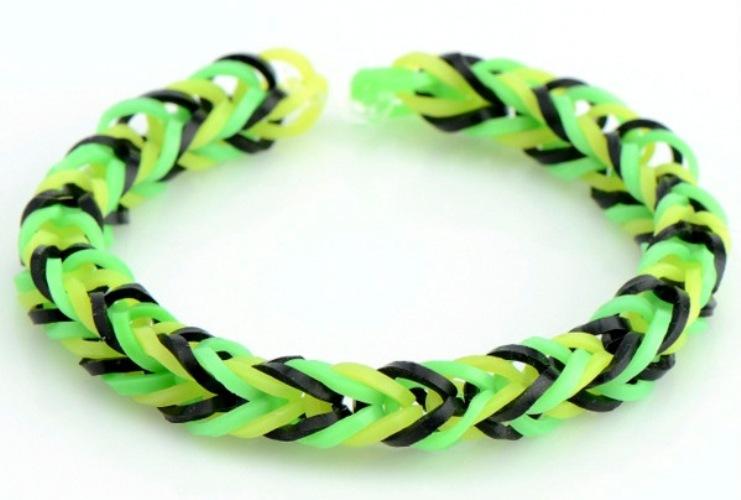 Схемы плетения в картинках браслетов из резинок 13
